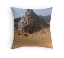 The Towering Marib Desert - Yemen Throw Pillow