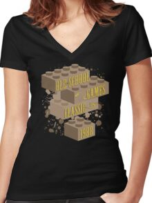 Old School Games - Classic Women's Fitted V-Neck T-Shirt