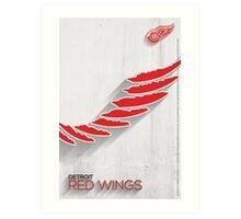 Detroit Red Wings Minimalist Print Art Print