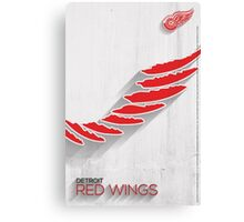 Detroit Red Wings Minimalist Print Canvas Print