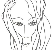 Abstract sketch of face VI by Solotry