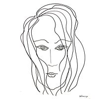 Abstract sketch of face VI Photographic Print