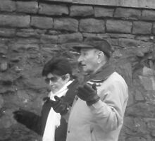 Candid Couple Gesticulating by karenuk1969