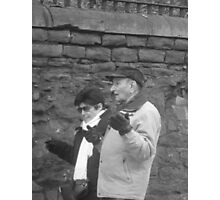 Candid Couple Gesticulating Photographic Print