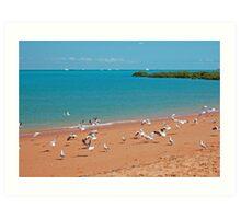 Town Beach and Roebuck Bay, Broome, Western Australia Art Print