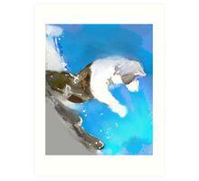 SKI DOWN(C2012) Art Print