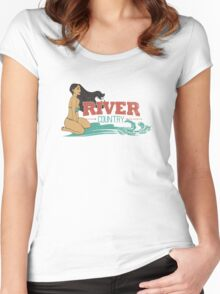 River Country. Just around the river bend ...  Women's Fitted Scoop T-Shirt