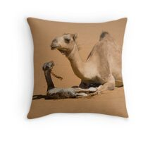 Newborn Camel - Yemen Throw Pillow
