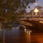 River Torrens Adelaide Empty by Dene Wessling