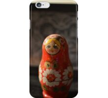 RED BABUSHKA WITH LACE iPhone Case/Skin