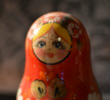 RED BABUSHKA WITH LACE Sticker