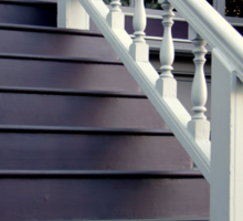 Purple Stairs With Picture Window Sticker