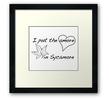 The Amore in Sycamore Framed Print
