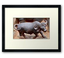 Charging Buffalo Framed Print