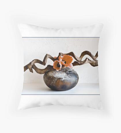 Ikebana-106 Greeting Card Throw Pillow