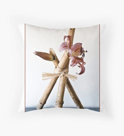 Ikebana-101 Greeting Card Throw Pillow