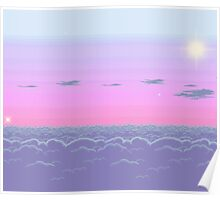 Pixel dusk Poster