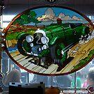 1929 Bentley stain glass window ~ Monterrey by Marjorie Wallace