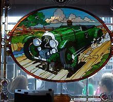 1929 Bentley stain glass window ~ Monterrey by Marjorie Wallace