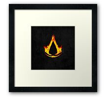 Creed Assassins Flame Framed Print