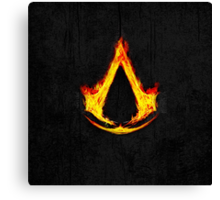 Creed Assassins Flame Canvas Print