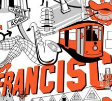 City Tee SF Sticker