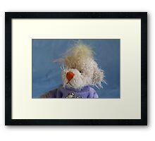 No I don't have a bad hair day! Framed Print