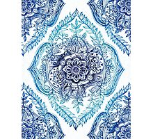 Indian Ink - in blues Photographic Print