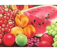 Peaches, Watermelon, Grapes, Apples...Fruit Still Life Photographic Print
