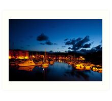 Port of Bormes Les Mimosas in French Riviera Art Print