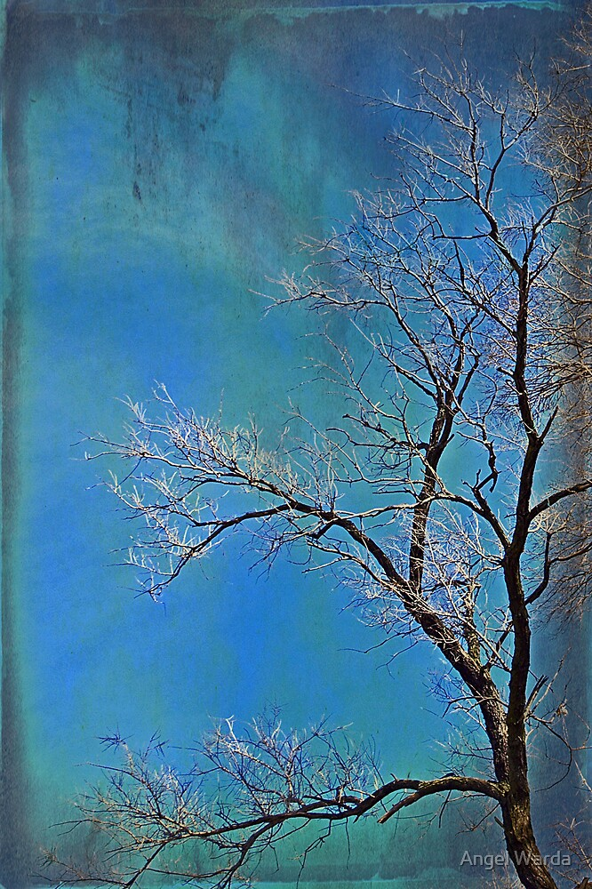 waving her blues in the wind by Angel Warda