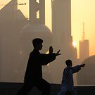 Group Tai Chi (太极拳) on Shanghai's Bund  by Mark Bolton