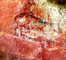 First frescoes. Australian Aboriginal Arts. Norhtern Teritory. by christopher  bailey
