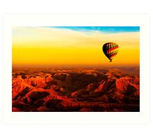 Sunrise From Above The Egyptian Valley Of The Kings Art Print
