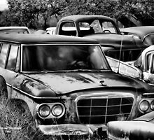 Old Ride 2  ( BoneYard Series in B&W ) by Carla Jensen
