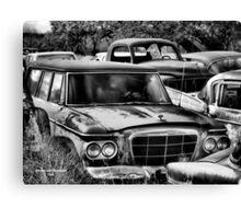 Old Ride 2  ( BoneYard Series in B&W ) Canvas Print