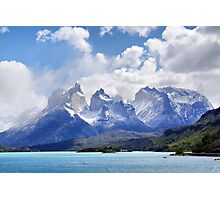 The Torres del Paine Massif beyond Lago Pehoe Photographic Print