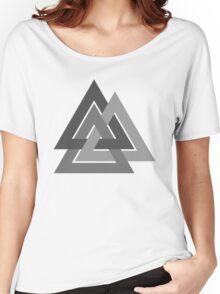 Valknut - Silver borromean VIKING SYMBOL Women's Relaxed Fit T-Shirt