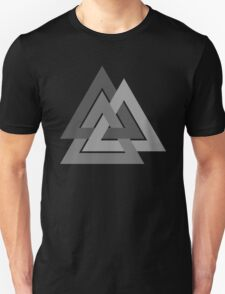 Valknut - Silver borromean VIKING SYMBOL Unisex T-Shirt