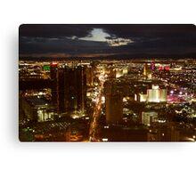 Vegas By Night 2 Canvas Print