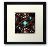 Embroidery Cogs Framed Print