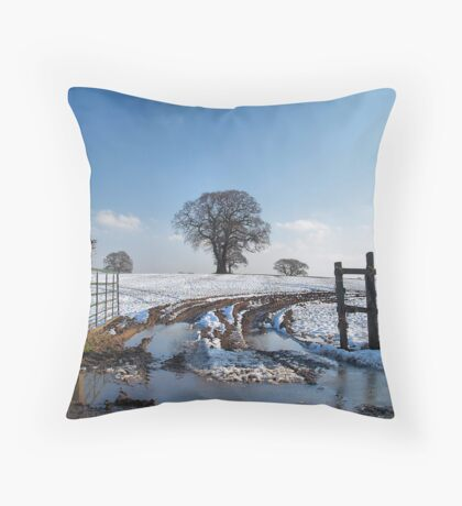 At the fields gate Throw Pillow