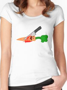 veges are murder Women's Fitted Scoop T-Shirt