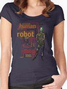 Human Robot Women's Fitted Scoop T-Shirt