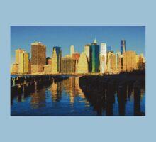 Bright and Sunny New York City Skyline - Impressions Of Manhattan Kids Clothes