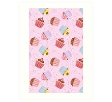 Cupcakes and Sprinkles Art Print