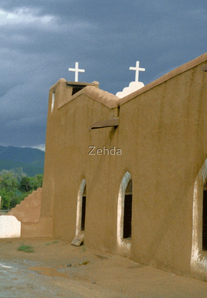 Church Taos New Mexico by Zehda