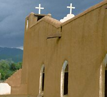 Church Taos New Mexico by Zehda