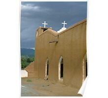 Church Taos New Mexico Poster