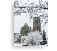 The Church of St. Mary/St. Paul in Winter Canvas Print